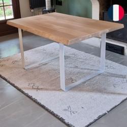 table industrielle pieds blanc
