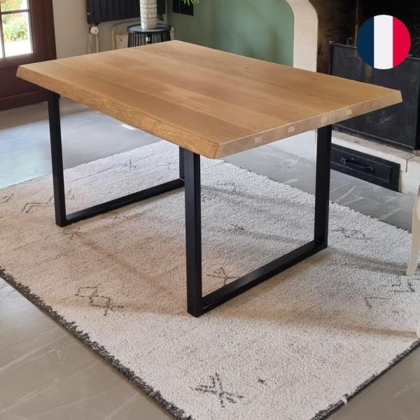 pied de table rectangulaire acier