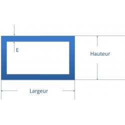 Tube rectangulaire acier 60x30